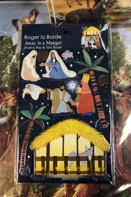 Away in a Manger Pop and Slot Advent Calendar by
