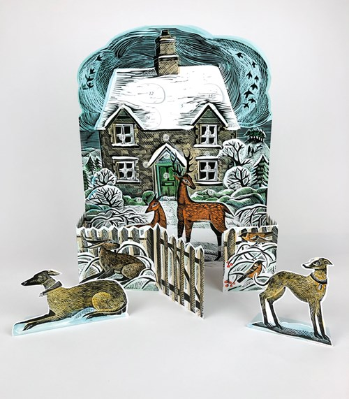 Christmas Cottage Advent Calendar by Angela Harding |
